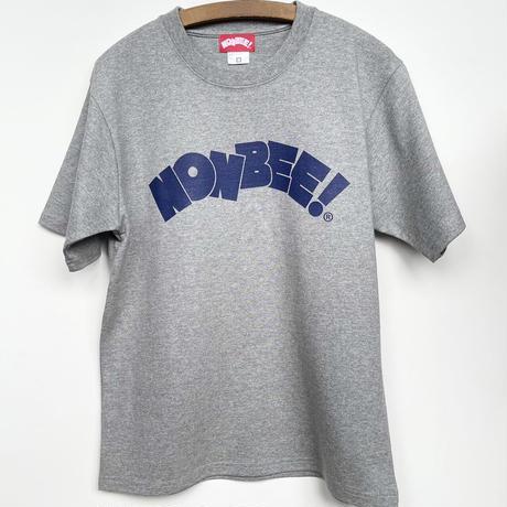 NONBEE HEAVY WEIGHT TEE    grey/navy