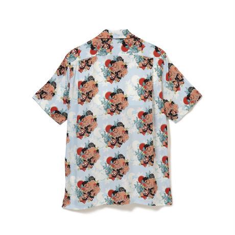 Aloha Blossom  × NONBEE! ハワイアンシャツ 半袖  水色