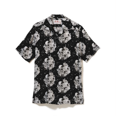 Aloha Blossom  × NONBEE! ハワイアンシャツ 半袖  黒