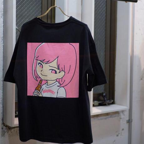"""SAIRI ITO × NONBEE!"" ART T-SHIRT   black/pink"