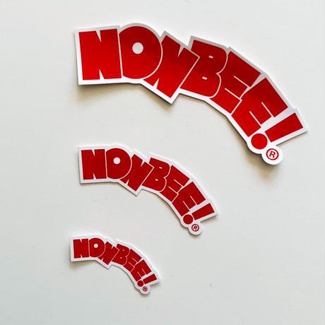 NONBEE LOGO STICKER SET  black&red