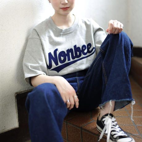 NONBEE TEAM LOGO TEE  grey/navy
