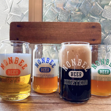 BEER HUNTERS GLASS  white