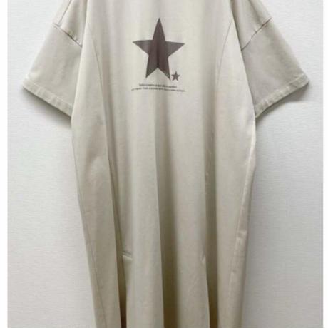 予約商品!!2021s スタープリントチュニックTシャツ821506~ayane/アヤン~