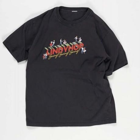 予約商品!!ピグメント&ソリッドTシャツ'VINTAGE TEE 'LINDYHOP''~KHA:KI/カーキ~