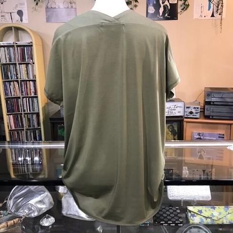 交編みサイロノーシームVネックTシャツ  ~juddy corn~
