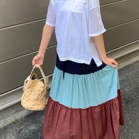 2021s  カラーブロックスカート(3色展開)_13251156 ~c.c.cross~
