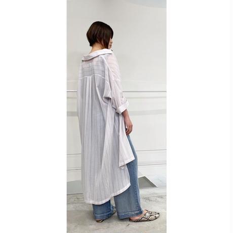2021s ストライプガーゼストライプロングシャツ821510~ayane/アヤン~