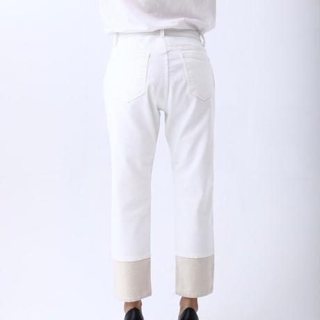 インディマーク クロップド丈ボーイフレンド(ホワイト) WJ020  ~indimark~