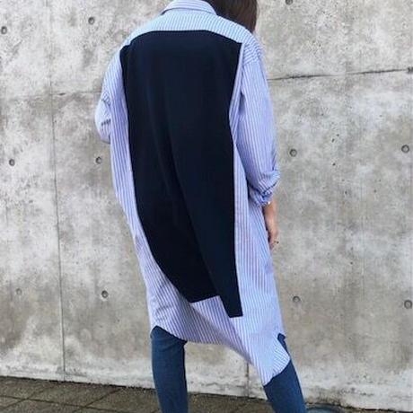 【一枚でオシャレなワンピース】ニットレイヤード風シャツワンピース- LEE-2114 - ~praia~
