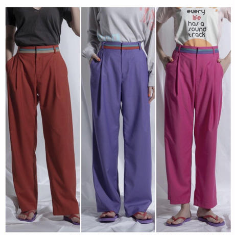 2021ss   thomas magpie colour belted pants(2211301)