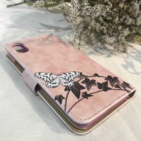 スマートフォンケース/iphone X/Xs(蝶猫) ~オオジカオリ~