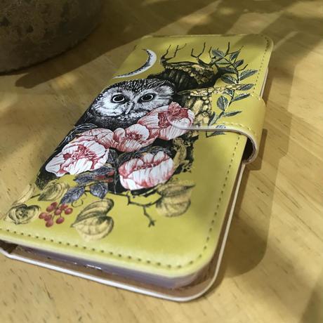 スマートフォンケース/iphone 7/8(梟) ~オオジカオリ~