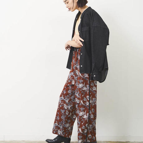 2021aw Floral printリラックスパンツ 品番:H813061  ~herencia~