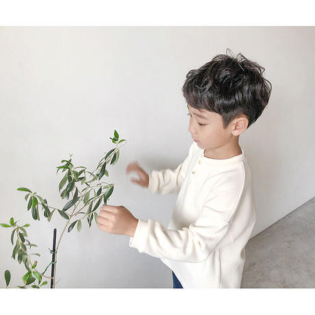 KIDS Henryneck knit-sweater (2color)