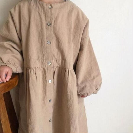KIDS natural shirt one-piece (2color)
