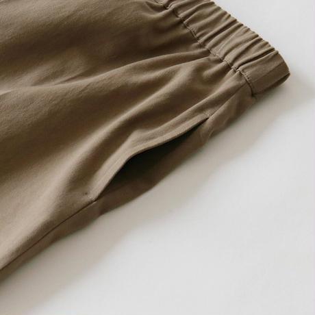 [オトナ]  Cotton twill calm tuck wide pants (2color)