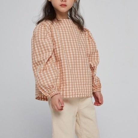 KIDS 2way puff-sleeve blouse (2color)