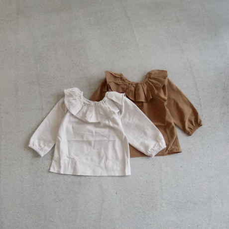 KIDS frill collar blouse (2color)