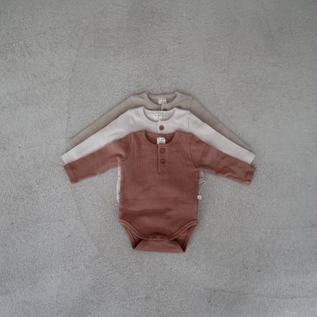 BABY rib rompers (3color)