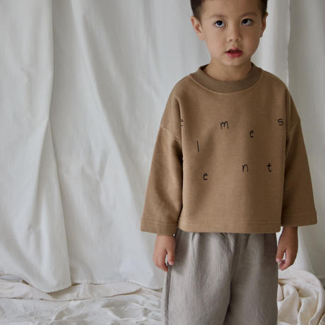 Kids on the moon / heather 7/8 sleeve sweatshirt