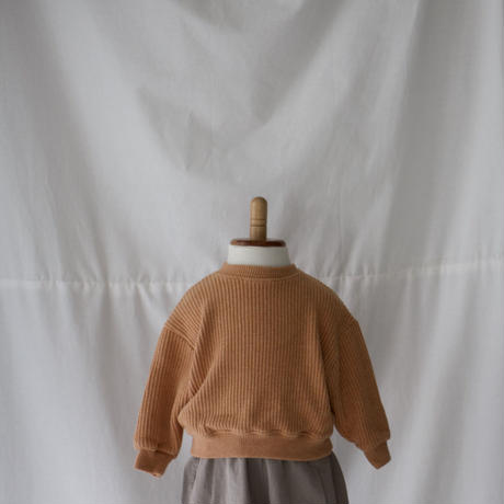 [残りlight grey 100のみ] KIDS waffle Knit (2color)