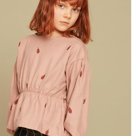 Kids on the moon /  mauve leaves peplum blouse