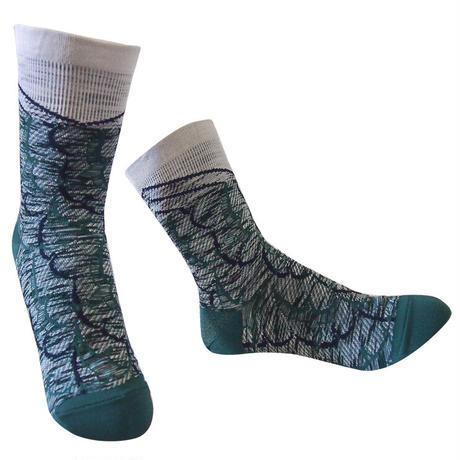 【Socks】 Flapping bird line  Socks    NS262Y-58 (¥2,200 +tax)