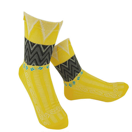 【nonnette】 Herringbones  Socks      NS221T- 25/ yellow