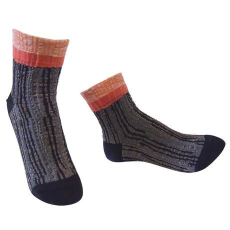 【Socks】 Irregular stripes  Socks    NS261Y-99 (¥2,000 +tax)