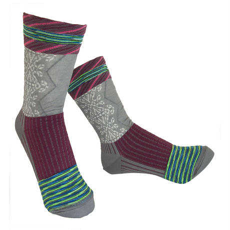 【nonnette】 Various fabrics Socks    NS230Y- 90 / gray