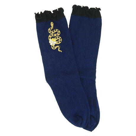 【nonnette】  Golden snake  Socks      NS217R- 84