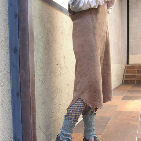 【nonnette】 Marble color  fabric combination Leggings NL061R- 93/ olive  gray