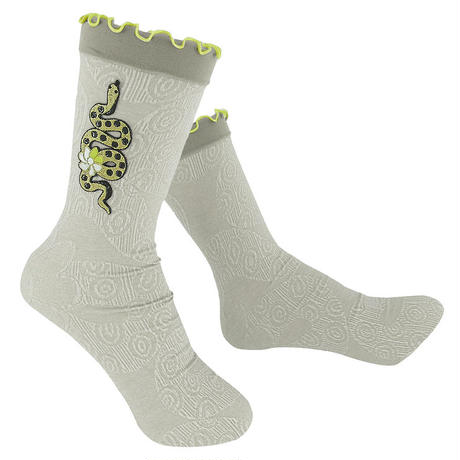 【nonnette】  Golden snake  Socks      NS217R- 11