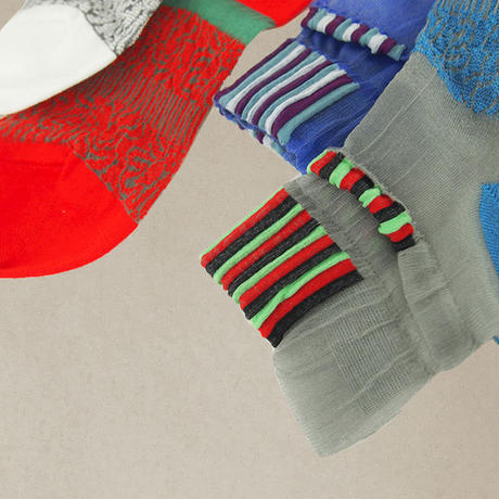 【Socks】See-through combination  Socks    NS224Y-77 (¥2,000 +tax)