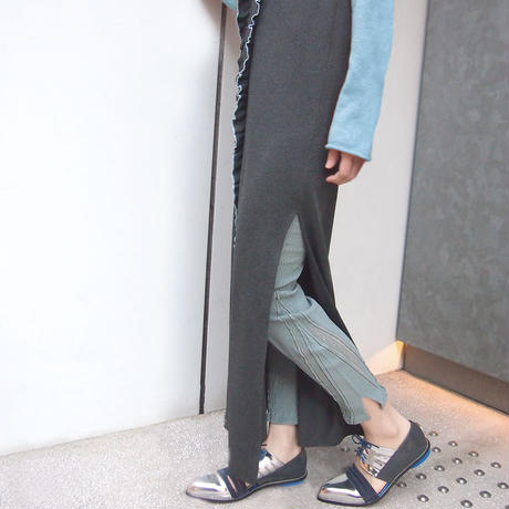 【nonnette】 Innovative form Leggings NL056R- 93 / olive gray