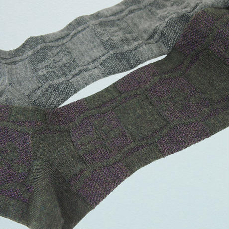 【nonnette】Heavenly bamboo  wool Tights   NT107R-90/ gray