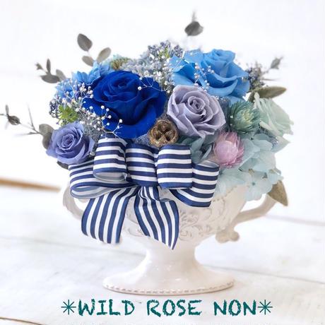 プリザーブドフラワー*ブルー*お花ギフト*お祝い