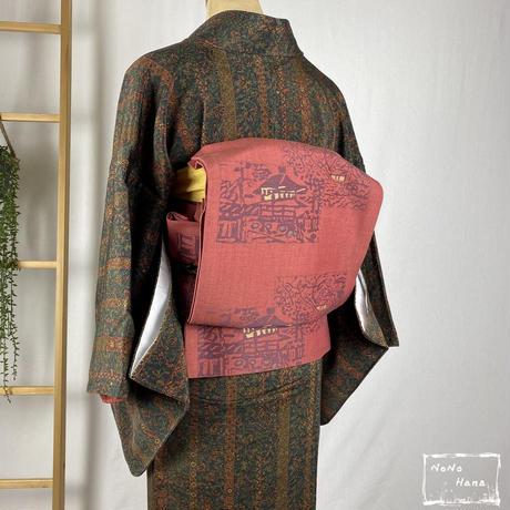 【小紋】正絹 更紗