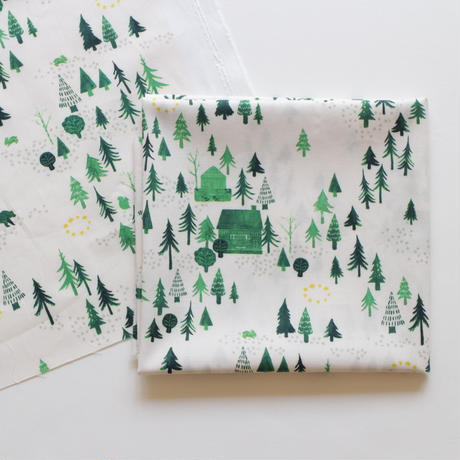 カットクロス ・おもいでの森  / 40番手ツイル 50×75cm