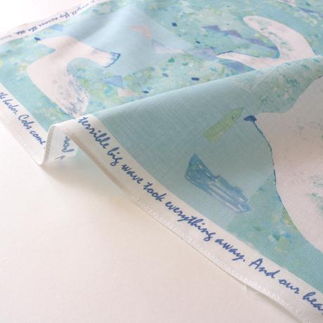 ハンカチブック・ウミトカモメ(ブックレットとハンカチのセット)ウオーターブルー
