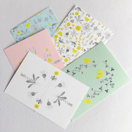 ポストカードセット・meadow flowers