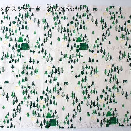 カットクロス ・おもいでの森 / 20番手オックスフォード 50×55cm・クリーム