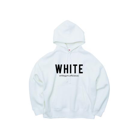 "WHITE GYM [FITNESS LIBERTY] ""BIG"" Hoodie - white"