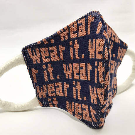 "Sock Mask   ""wear it"" navy"