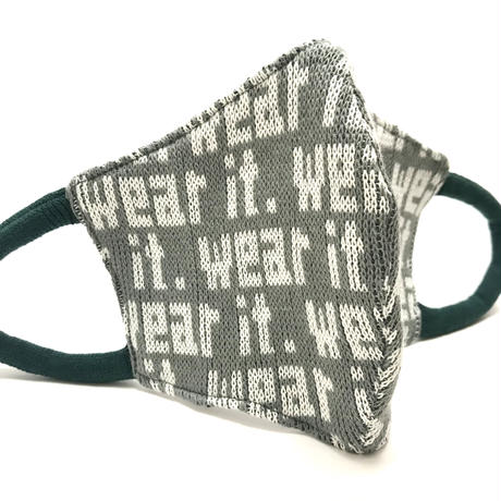 "Sock Mask   ""wear it"" gray"