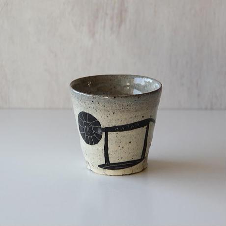 清水しおり 黒絵のフリーカップ
