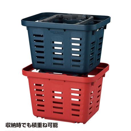 スーパーバスケット【SB-310】色:レッド 焚き火セット・キャンプギアの収納に 日本製