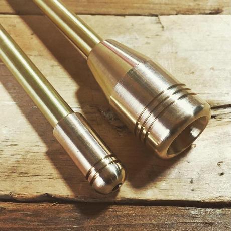 ALL真鍮製火吹き棒「野良ブラスター」 2本継60cm