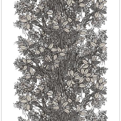 <受注販売> Träd Grey ファブリック (幅146cm x 長さ120cm)